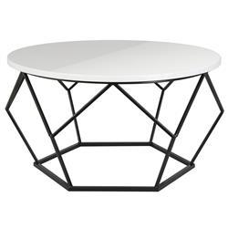Stolik kawowy Diamond 70 cm czarno-biały (ref: 10-1562-70-BSW-MDF)