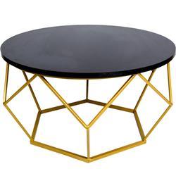 Stolik kawowy Diamond 70 cm złoto czarny (ref: 10-1562-70-GB-MDF)