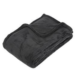 Pluszowy koc 130x180 cm ciemno szary