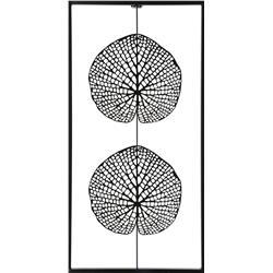 Metalowa ozdoba ścienna liście 30x61 cm