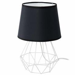 Lampka nocna stołowa Diament biel czerń