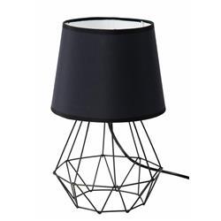 Lampka nocna stołowa Diament czarna