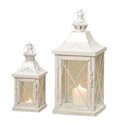 Komplet dwóch białych lampionów