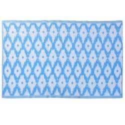 Mata podłogowa 120x180 cm niebieska Romb