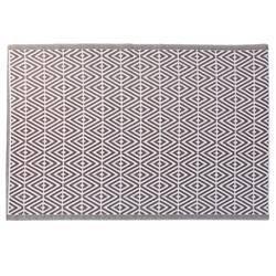 Mata podłogowa 120x180 cm brązowa Karo