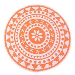 Mata podłogowa 150 cm pomarańcz wzór 1