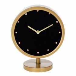 Stojący zegar w kolorze złotym