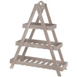 Regał drewniany drabina 3 poziomy beżowy
