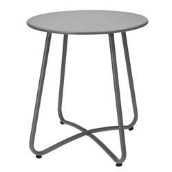 Stolik metalowy okrągły szary 45x40 cm