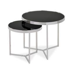 Zestaw stolików Delia II Silver Black
