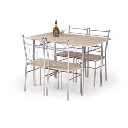 Stół z 4 krzesłami Faust dąb sonoma