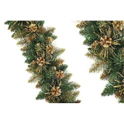 Girlanda świąteczna złota + szyszka 1m