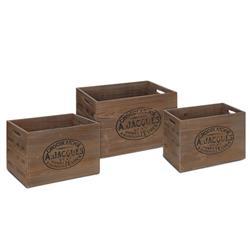 Skrzynie drewniane brązowe komplet 3 szt