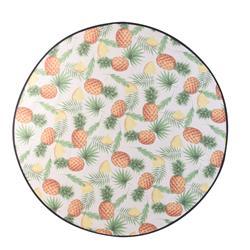 Mata plażowa okrągła w ananasy 138 cm