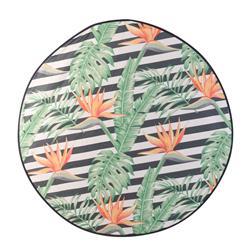 Mata plażowa okrągła w kwiaty 138 cm