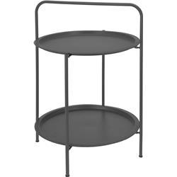 Stolik dwupoziomowy metalowy szary