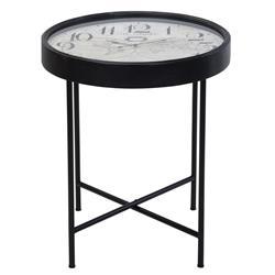 Okrągły stolik z zegarem 70 cm