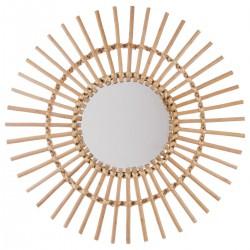 Wiklinowe lustro ścienne Słońce 58 cm