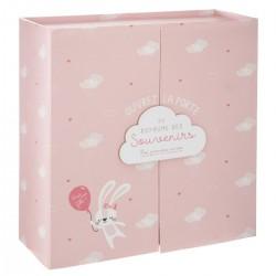 Pudełko z szufladkami Birth Box różowe