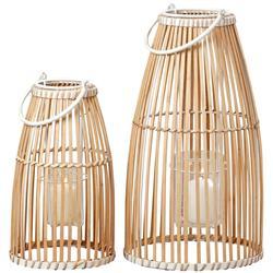 Komplet lampionów bambusowych Flint