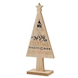 Choinka drewniana beż 25 cm wzór 2