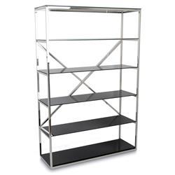 Regał Torni Silver Black 120x180 cm