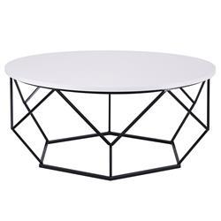 Stolik kawowy Diamond 90 cm czarno biały
