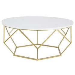 Stolik kawowy Diamond 90 cm złoto biały