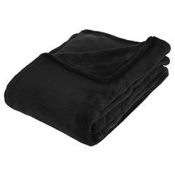 Pluszowy koc 130x180 cm czarny