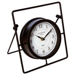 Metalowy zegar stołowy