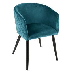 Krzesło Marlo Velvet niebieskie