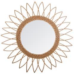 Wiklinowe lustro ścienne Sharp Sun 50 cm
