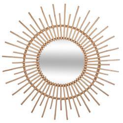 Wiklinowe lustro ścienne Słońce 76 cm
