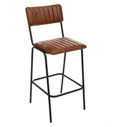 Skórzane krzesło barowe Dario Cognac