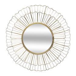 Metalowe lustro ścienne kwiat 67 cm