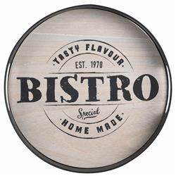 Okrągła taca Bistro metalowa - Tasty