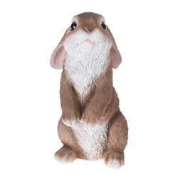 Figurka ogrodowa królik stojący brąz