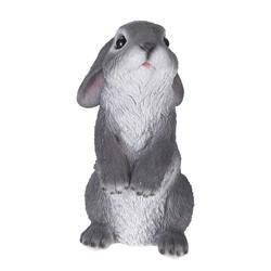 Figurka ogrodowa królik stojący szary