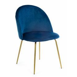 Krzesło Ringo Gold Dark Blue