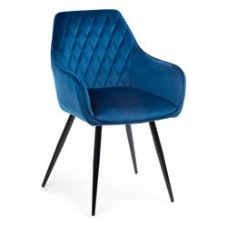 Krzesło Sametti Black Dark Blue