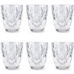 Komplet 6 przezroczystych szklanek 250ml