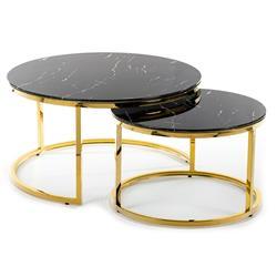 Komplet stolików Treze Gold Black