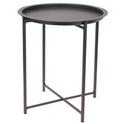 Stolik kawowy składany z tacą szary