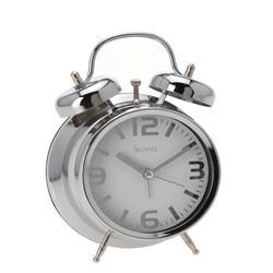 Budzik zegar stołowy biała tarcza 9 cm