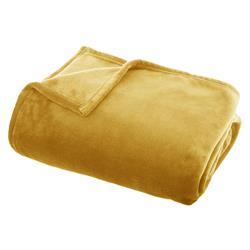 Koc pluszowy Flanel 130x180 cm żółty